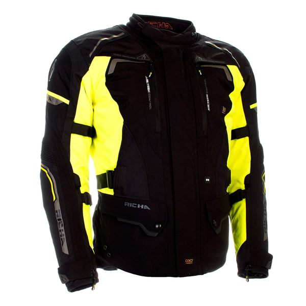 Richa Infinity 2 Waterproof Jacket - Black/Fluo Yellow