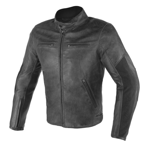 Dainese Stripes D1 Leather Jacket - Black