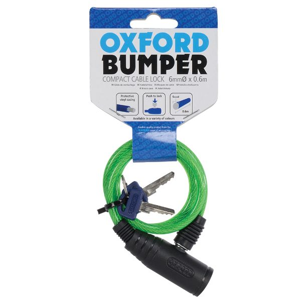 Oxford Bumper Cable Lock - Green