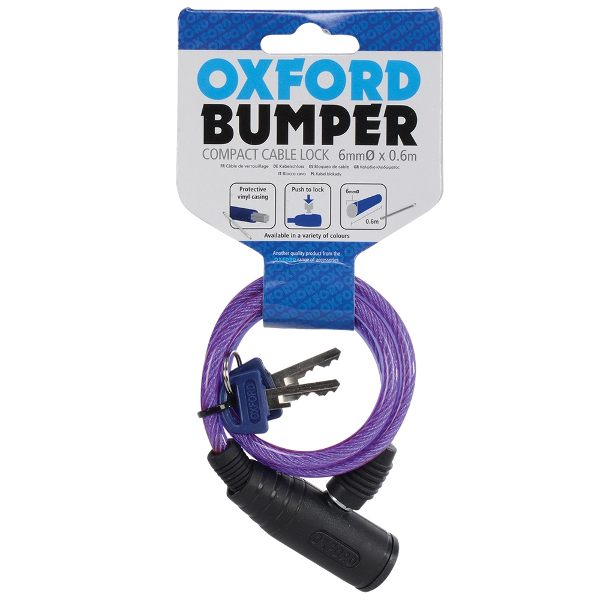 Oxford Bumper Cable Lock - Purple