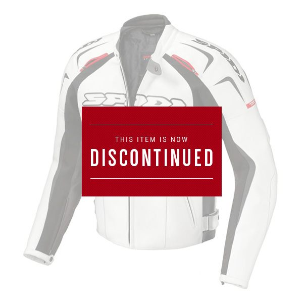 Spidi Track Leather Jacket - White/Red