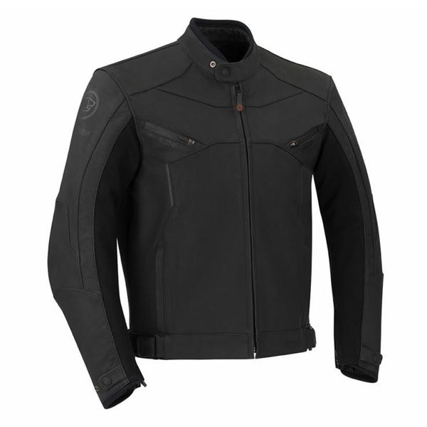 Bering Rezek Watreproof Leather Mens Jacket - Black