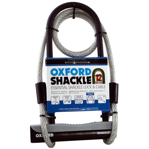Oxford Shackle lock with cable