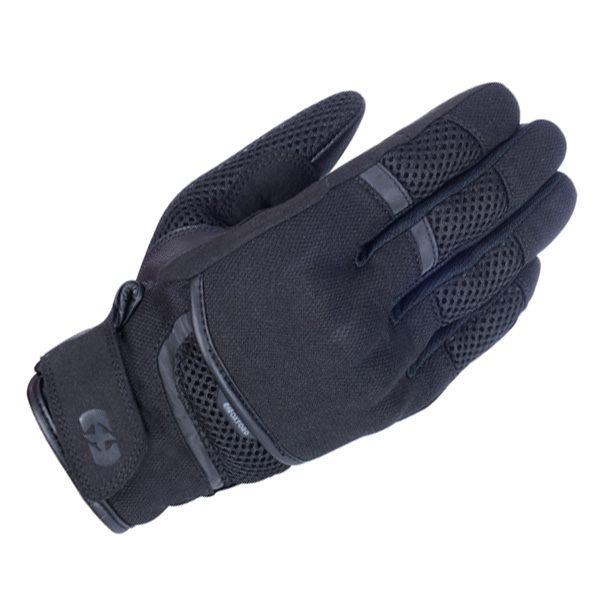 Oxford Brisbane Air Stealth Black Motorcycle Motorbike Short GlovesAll Sizes