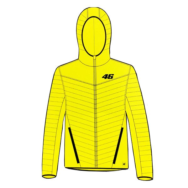 VR46 Core Down Jacket - Yellow