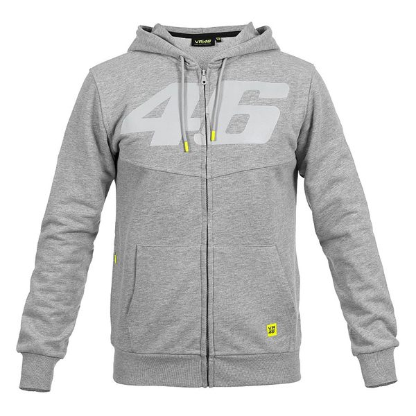 VR46 Core Full Zip Hoodie - Grey