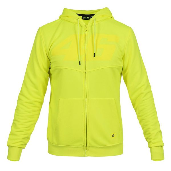 VR46 Core Full Zip Hoodie - Yellow