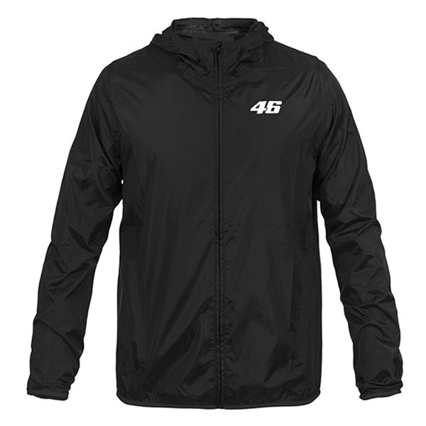 VR46 Core Raincoat - Black