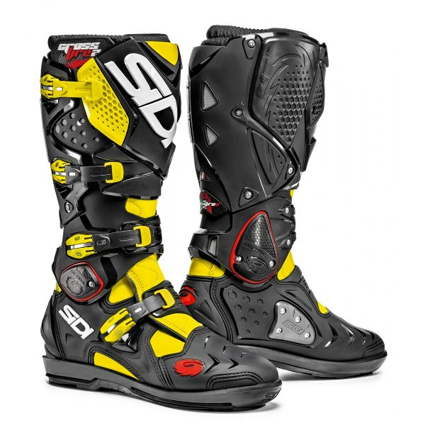 Sidi Crossfire 2 SRS Boots - Yellow Fluorescent/Black