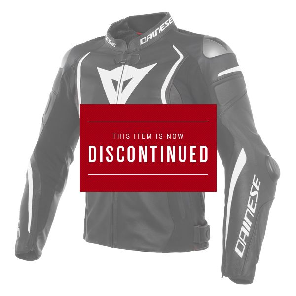 Dainese Mugello Leather Jacket - Black/White