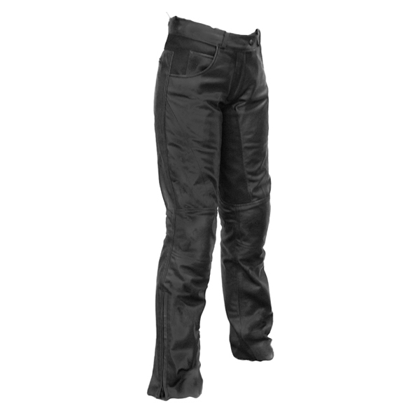 Richa Carolina Ladies Leather Trousers - Black