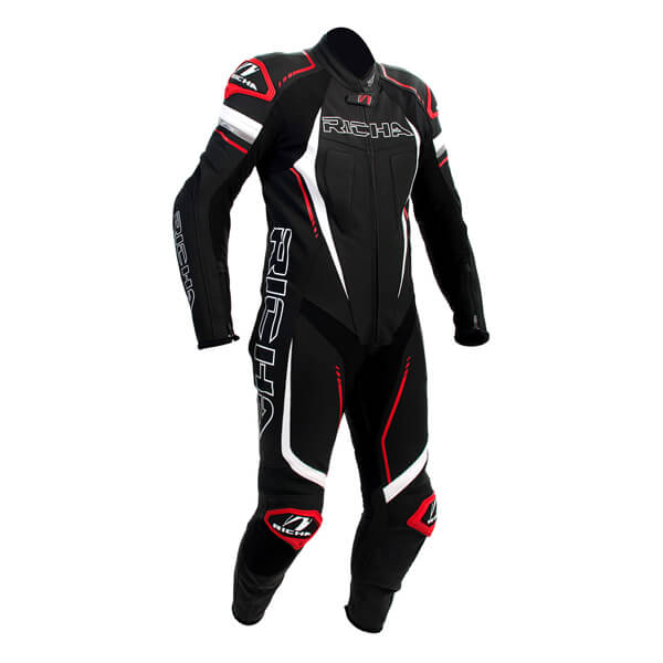 Richa Francorchamps Leather Suit - Black/White/Red