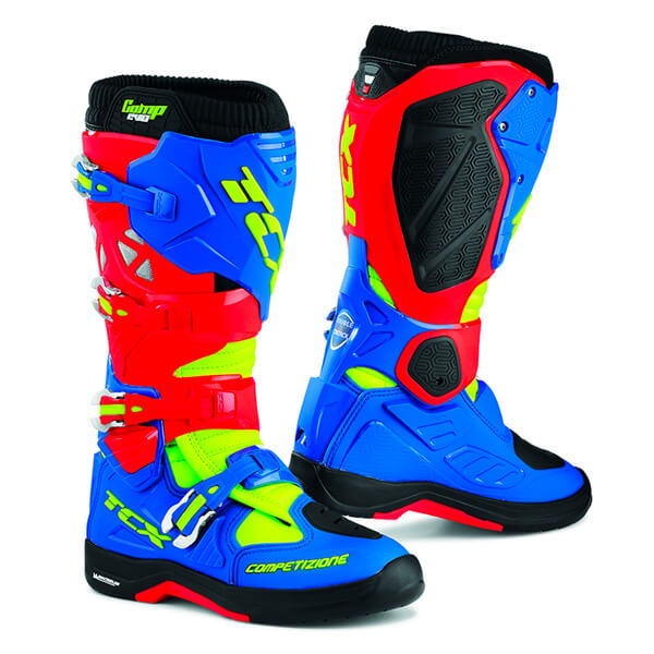 TCX Comp Evo 2 Michelin Boots - Red/Blue/Yellow