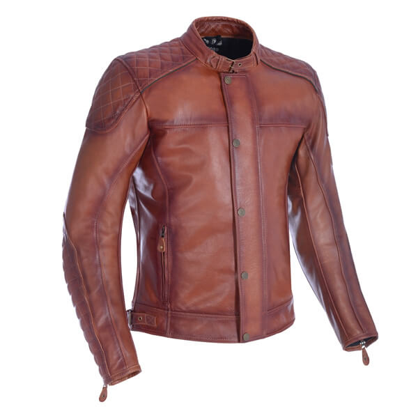 Oxford Hampton Leather Jacket - Bourbon