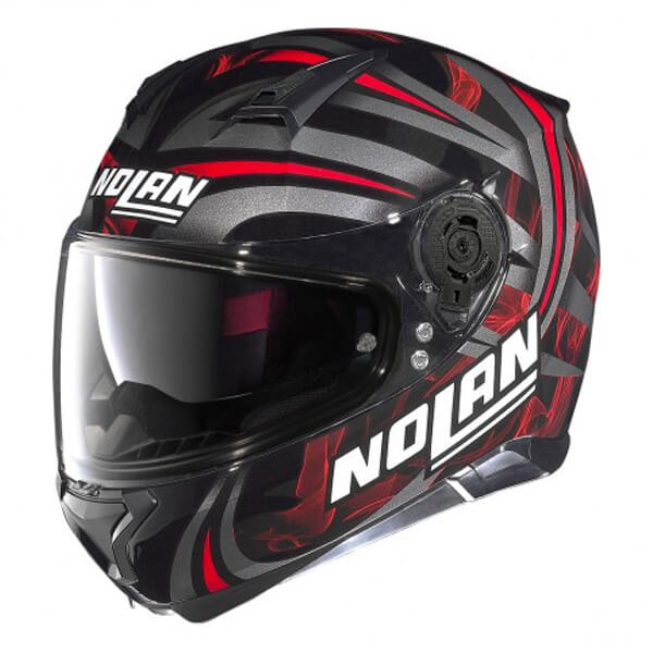 * Nolan N87 Ledlight N-Com - Gloss Black/Red 030