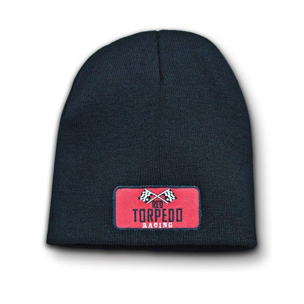 Red Torpedo Retro Beanie - Graphite