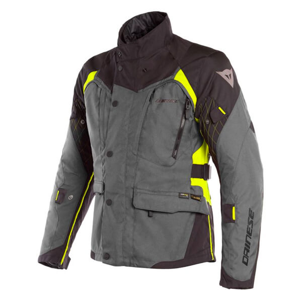 Dainese X-Tourer D-Dry Jacket - Ebony/Black/Fluo Yellow