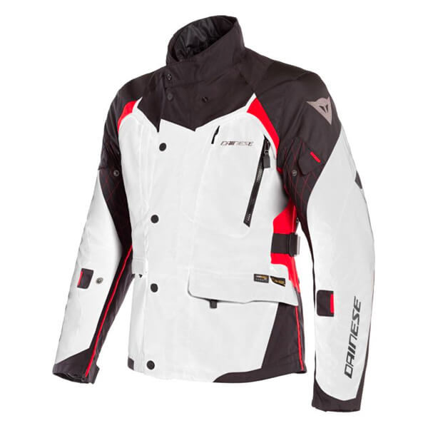Dainese X-Tourer D-Dry Jacket - Light Grey/Black/Tour Red
