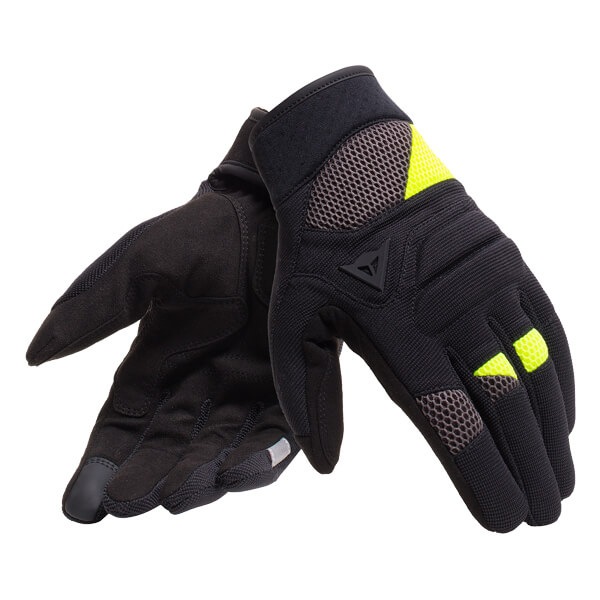 Dainese Fogal Unisex Goves - Black/Fluo Yellow