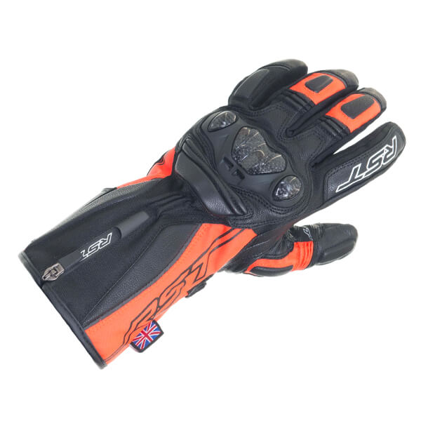RST Paragon 5 CE Waterproof Ladies Gloves - Fluo Red