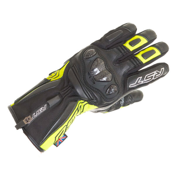 RST Paragon 5 CE Waterproof Gloves - Fluo Yellow
