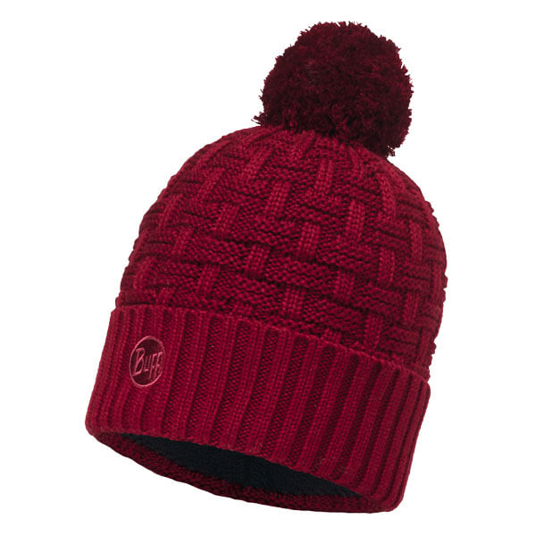 Buff Knitted Hat - Airon Wine/Black