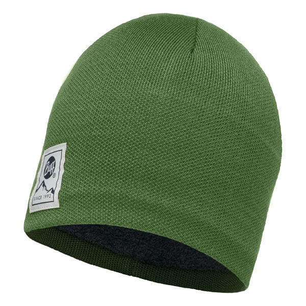 Buff Knitted Hat - Solid Forest/Grey Vigore