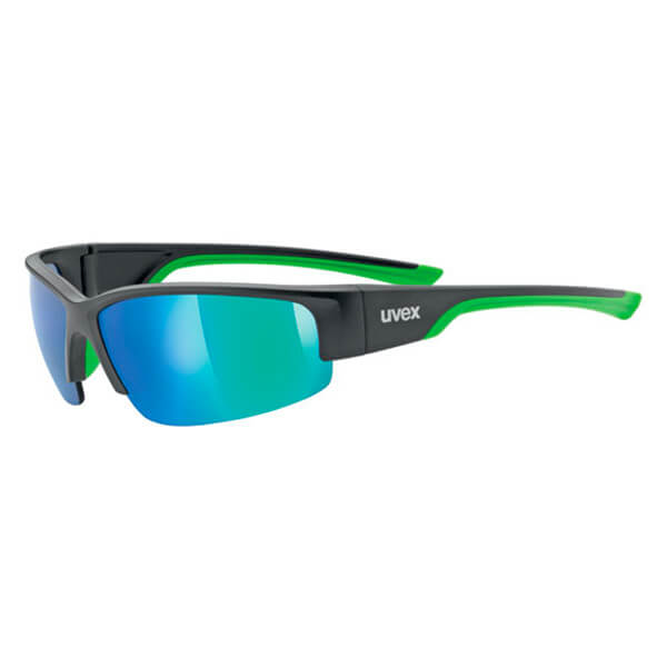 Uvex Sunglasses SP 215 - Matt Black/Green