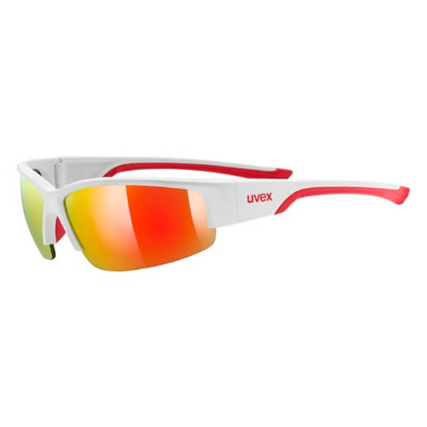 Uvex Sunglasses SP 215 - Matt White/Red