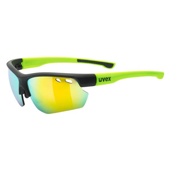 Uvex Sunglasses SP 115 - Matt Black/Yellow