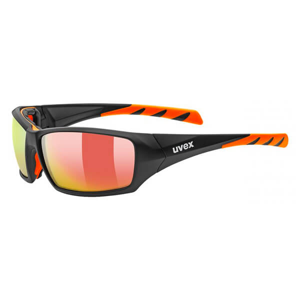 Uvex Sunglasses SP 308 - Matt Black/Orange