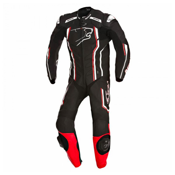 Bering Supra-R 1 Piece Leather Suit - Black/Red