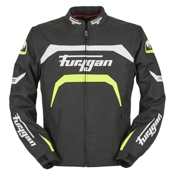 Furygan Arrow Jacket - Black/White/Yellow
