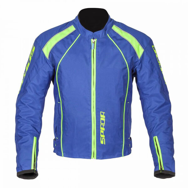 Spada Plaza Waterproof Textile Jacket - Blueberry/Lime