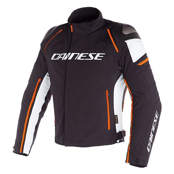 Dainese Racing 3 D-Dry Jacket - Black/Vapour Blue/Red Orange