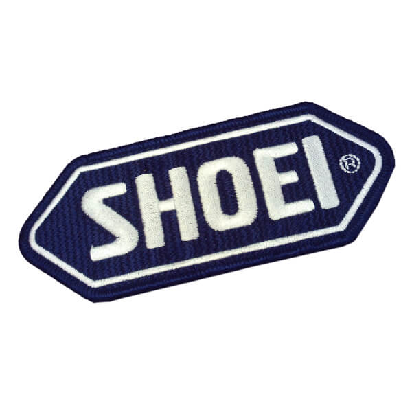 Shoei Cloth-Sew on Badge - Dark Blue Base