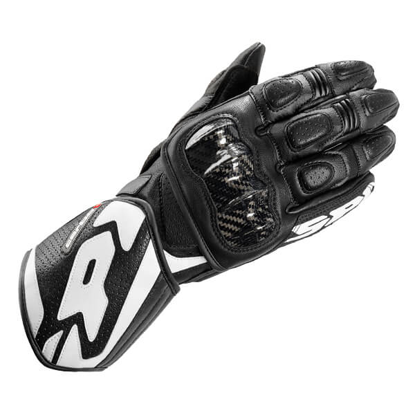 Spidi Carbo 1 Leather Gloves - Black