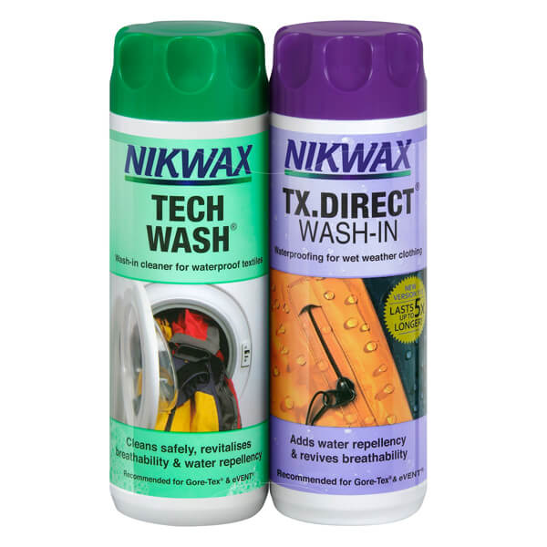 Nikwax TX Direct & Tech Wash 300ml Twin Pack