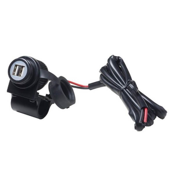 Interphone 12V 2 USB Adaptor Handlebar Mount Cables