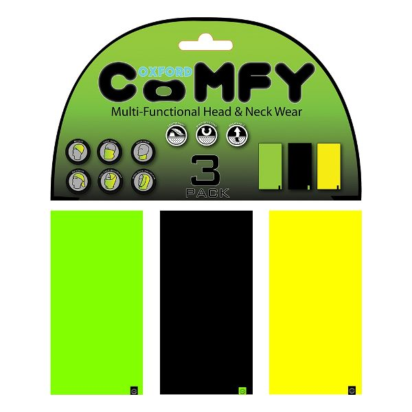 Oxford Comfy 3 Pack - Green/Black/Yellow