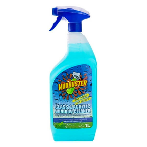 Mudbuster Glass + Acrylic Cleaner - 1 Litre