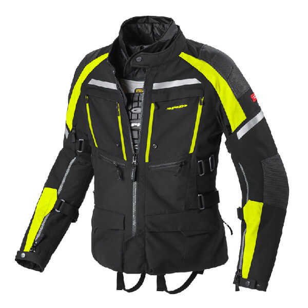 Spidi H2Out Armakore Jacket - Black/Fluo Yellow