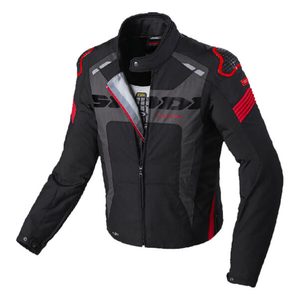 Spidi Warrior H2Out Evo Jacket - Black/Red