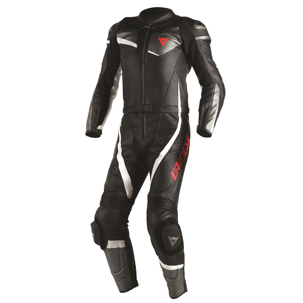Dainese Veloster 2 Piece Leather Suit - Black/Anthracite