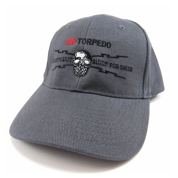 Red Torpedo Gear with Grit Skip Cap - Graphite
