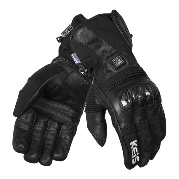 Keis Heated G501 Armoured Gloves - Black