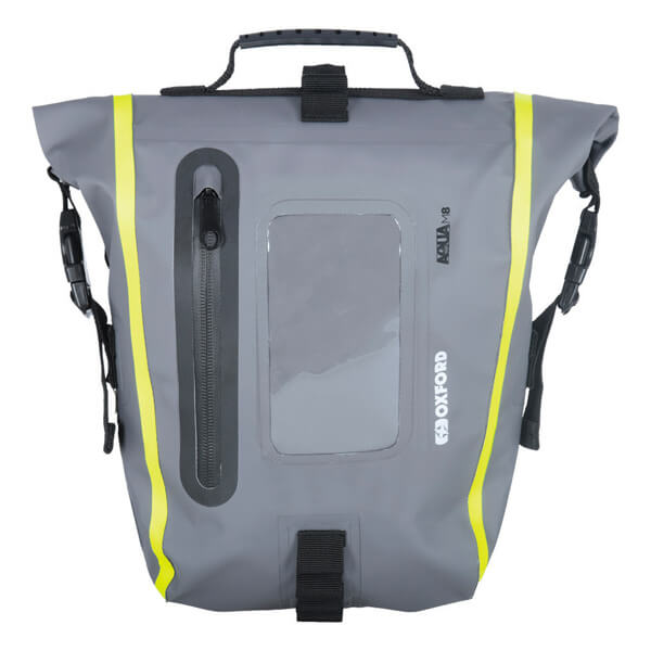 Oxford Aqua M8 Tank Bag - Black/Grey/Fluo