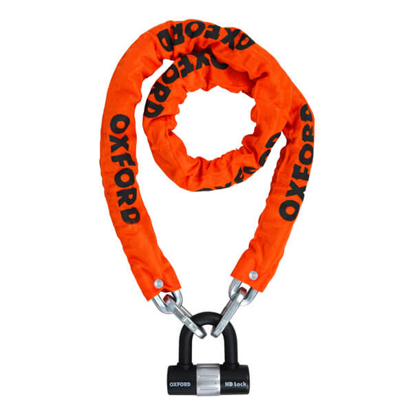 Oxford HD Chain & Lock 1.5m - Orange