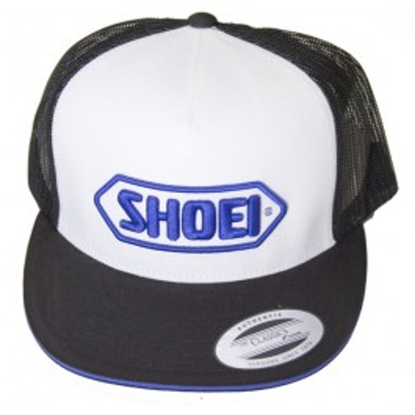 Shoei Trucker-White w/ Blue Logo