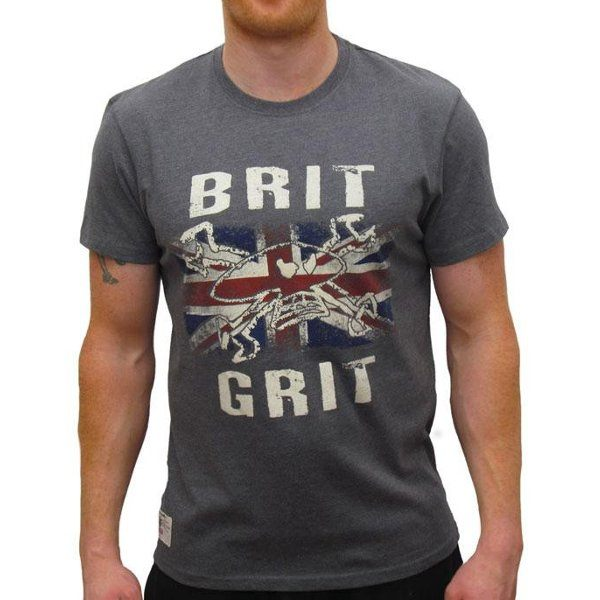 Red Torpedo Brit Grit T-Shirt - Graphite